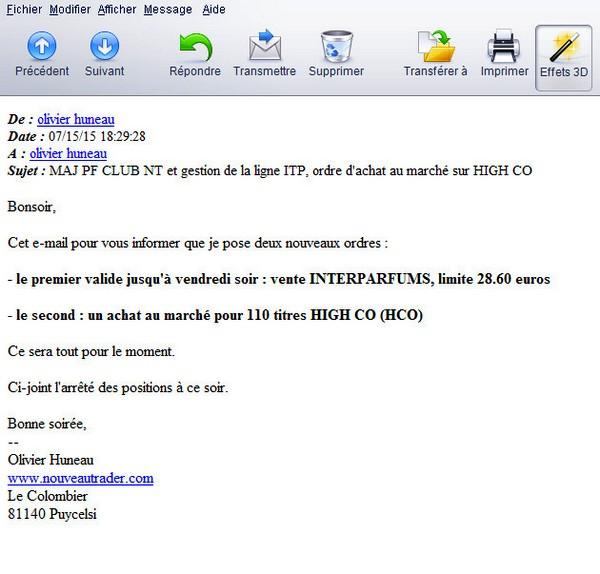 E-mail Club NT 15.07.2015 en soirée