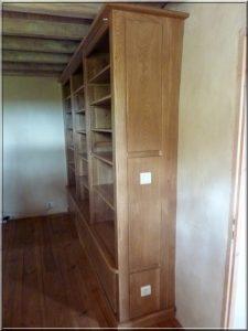 La bibliothèque fabriquée par Pascal
