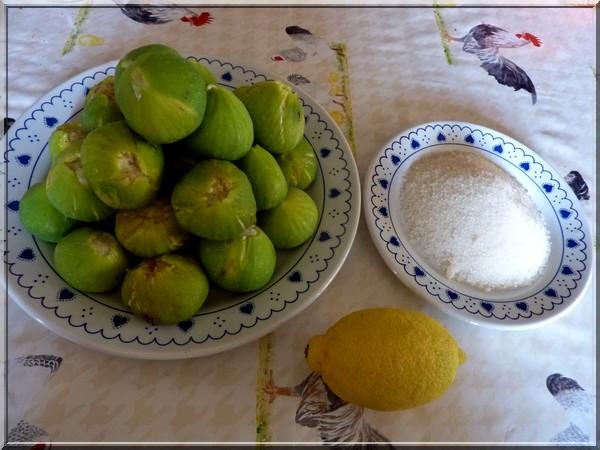Figues fraîches, sucre et citron